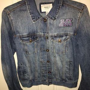 "Custom Made""SLAY QUEEN"" denim jacket"